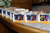 Foto-lembrança com porta-retrato personalizado - Evento Mantecorp