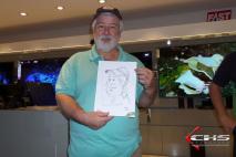 Caricatura P&B digital. Evento LG - 4K