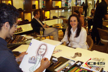 Evento Louis Vuitton - Caricaturas coloridas em papel A3.