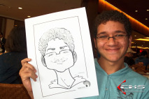 Evento Galetos - 14 Lojas - Caricaturas P&B em Papel - Dia das Crianças.