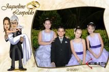 Evento de Casamento - Foto-lembrança com moldura de caricatura - Revelação ao vivo.