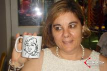 Caricaturas em canecas de porcelana pré-personalizadas. Cyarla.