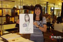 Evento Louis Vuitton - Caricaturas coloridas em papel A3.